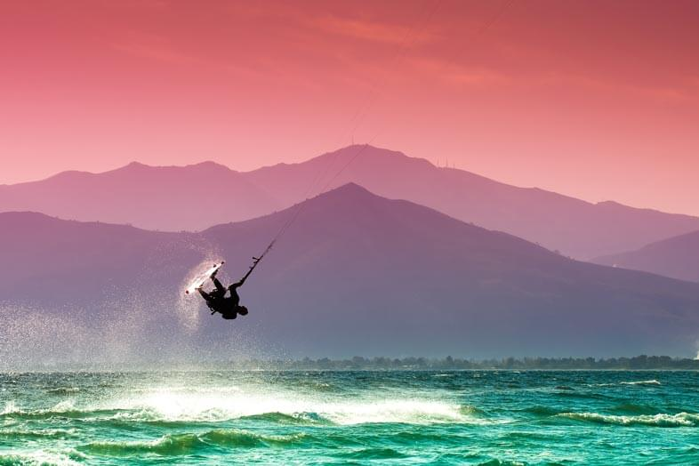 Kiteboarding without a kiteboarding helmet